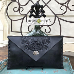 Flora Mexican Crossbody (Black)