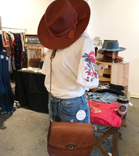 Load image into Gallery viewer, Sawyer Wool Felt Panama Hat in Rust