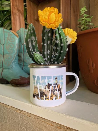 Take Me Away Tin Mug