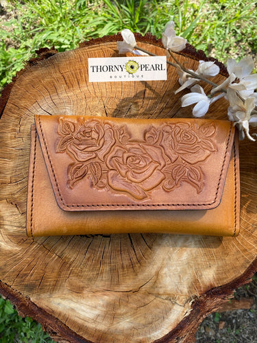 Florita Mexican Crossbody/Clutch - Honey