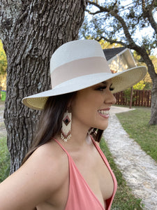 Xochitl Panama Straw Hat in Ivory