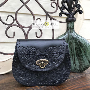 Penelope Mexican Crossbody (Black)