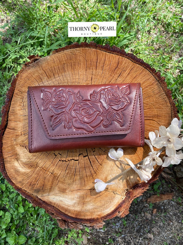 Florita Mexican Crossbody/Clutch - Merlot