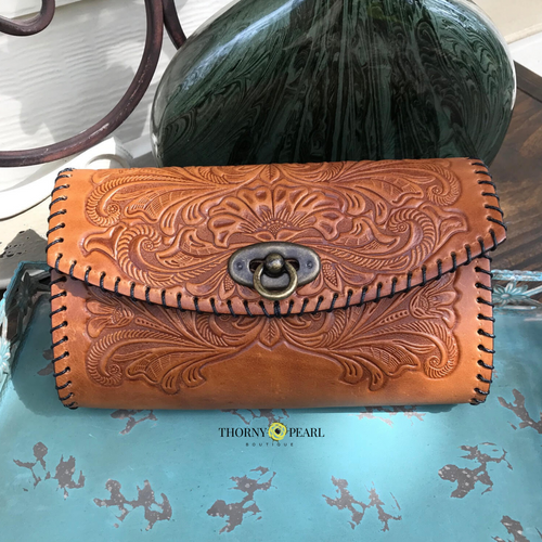 Yazmine Mexican Crossbody/Clutch (Wheat)