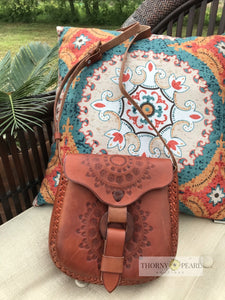 Carlota Mexican Leather Boho Handbag