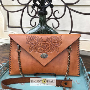 Flora Leather Crossbody (Honey)