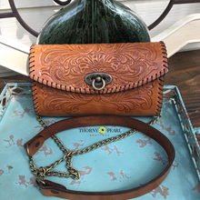 Load image into Gallery viewer, Yazmine Mexican Crossbody/Clutch (Wheat)