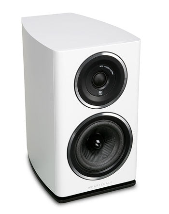 Wharfedale Diamond 11.1 bookshelf speaker black ash finish front view altavoces de support acabado negro