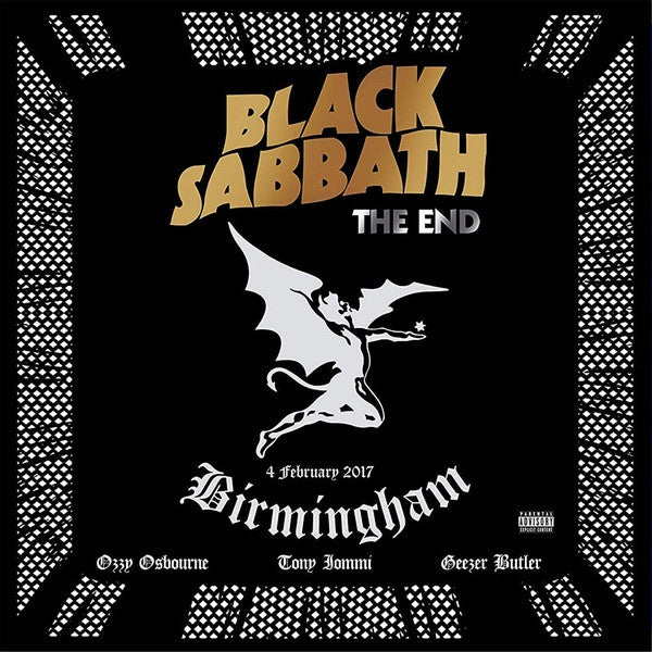 "Black Sabbath The End Vinilo 3x 12"" LP Limited Edition Reissue 2020 Translucent Blue Vinyl"