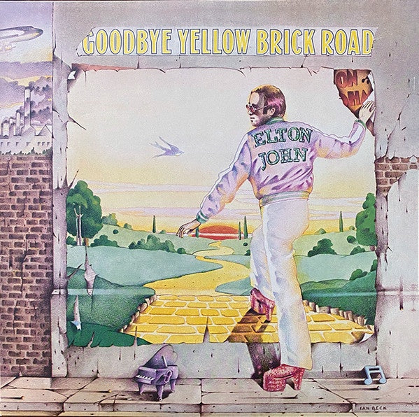 "Elton John Goodbye Yellow Brick Road 40th Anniversary Edition Vinyl 2x 12"" LP front cover"