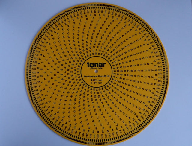 Tonar 12' Yellow Acrylic Stroboscope Disc for all Speeds