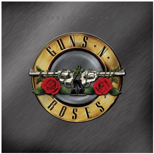 "Guns n' Roses Greatest Hits 2020 limited edition reissue gold vinyl with red & white splatter 2x 12"" LP"