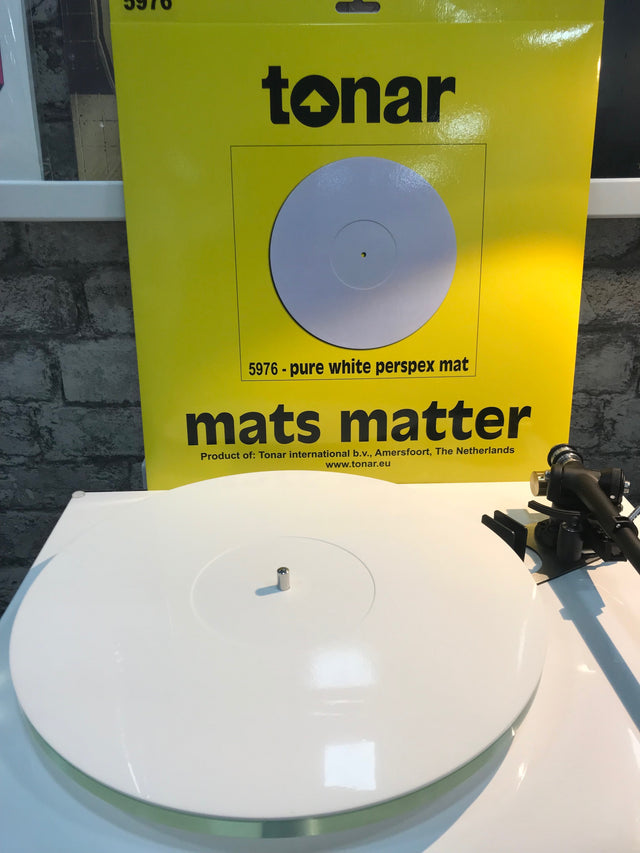 Tonar Pure White Perspex Turntable Mat