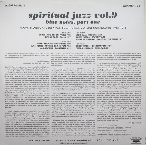 "Spiritual Jazz vol.9 Blue Notes Part 1 Jazzman 2019 2x12"" LP Vinyl"