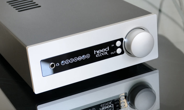 Heed Audio Elixir amplificador integrado integrated amplifier silver blue sky musica