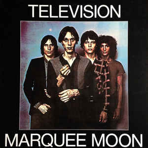 "Television Marquee Moon Vinyl 1x12"" LP front cover artwork"