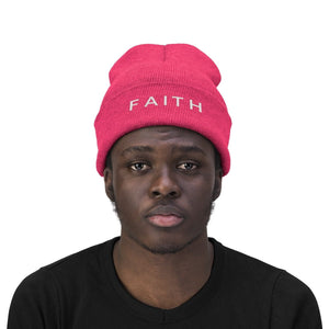 Faith (Beanie | Multiple Colors) - GOD FIRST ATTIRE