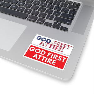 USA + Block Logo (Stickers) - GOD FIRST ATTIRE