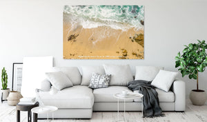 Mightier Than The Waves - Canvas Print - GOD FIRST ATTIRE