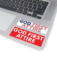 Load image into Gallery viewer, USA + Block Logo (Stickers) - GOD FIRST ATTIRE