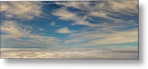 Heavens Declare The Glory Of God - Metal Print - GOD FIRST ATTIRE