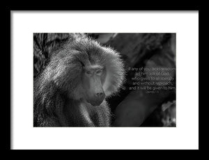 Let him ask of God - Framed Print - GOD FIRST ATTIRE
