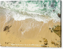 Load image into Gallery viewer, Mightier Than The Waves - Canvas Print - GOD FIRST ATTIRE