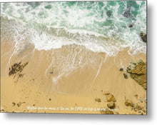 Load image into Gallery viewer, Mightier Than The Waves - Metal Print - GOD FIRST ATTIRE