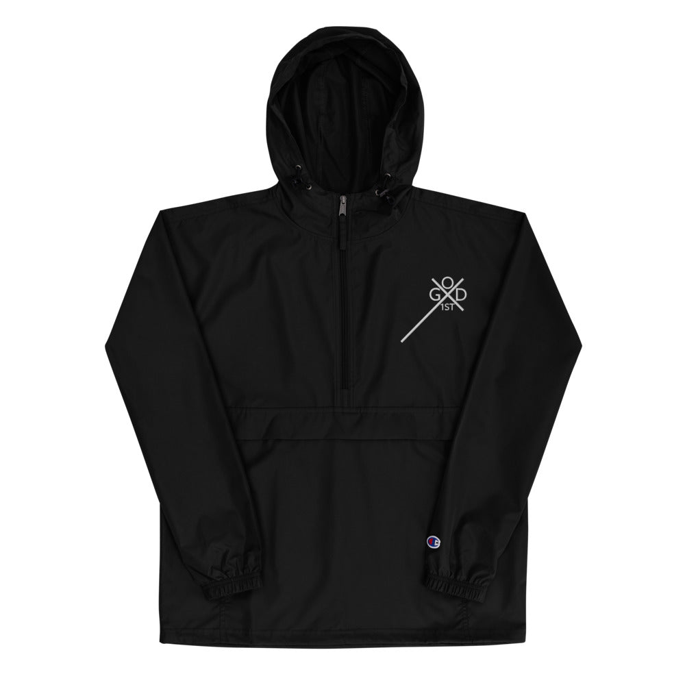 Logo Embroidered Champion Jacket - GOD FIRST ATTIRE