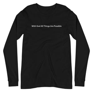 With God All Things Are Possible Min. LS Tee
