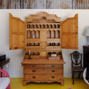 Long Leaf Pine Secretary, English, Early 1800's