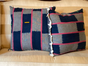 Pink & Blue Mud Cloth Pillows