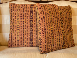 Knife Edge Vintage Fabric Pillow Pair