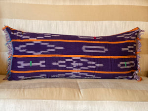 Purple and Orange Mud Cloth Pillow