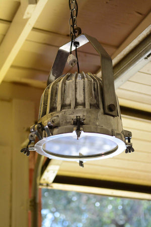 Industrial Chic Metal and Glass Light Fixture