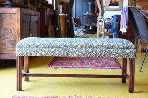 Chippendale Custom Upholstered Bench