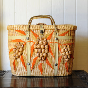 Large Vintage Wicker Tote