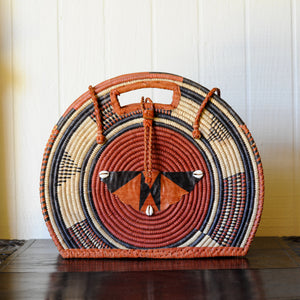 Vintage African Wicker Bag