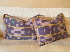 Purple Mud Cloth Pillows