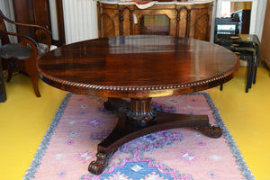 Regency Period Rosewood Round Table