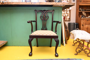 8 Antique Mahogany Chippendale Chairs - Late 1800's