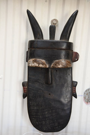 Arican Handcarved wooden mask from Nigeria - Yoruba tribe