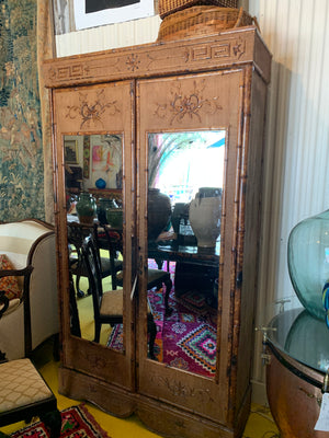 1850's French Bamboo Armoire