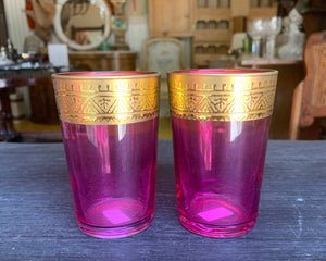 Pink Moroccan Glasses Set Tea Style