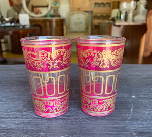 Pink Moroccan Glasses Set Shot Style