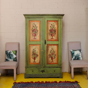 Hand Painted Hungarian Armoire