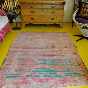 4' x 6'  Moroccan Berber Striped Rug