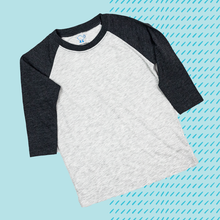 Load image into Gallery viewer, Black Toddler Raglan