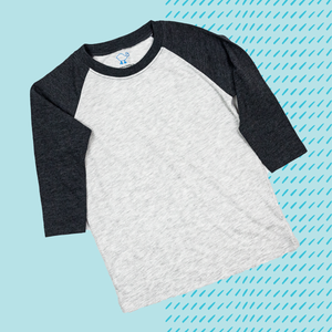 Black Toddler Raglan