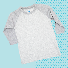 Load image into Gallery viewer, Gray Youth Raglan